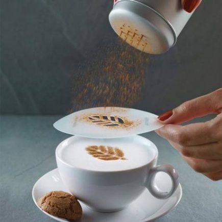 Barista kávé díszítő sablonkészlet