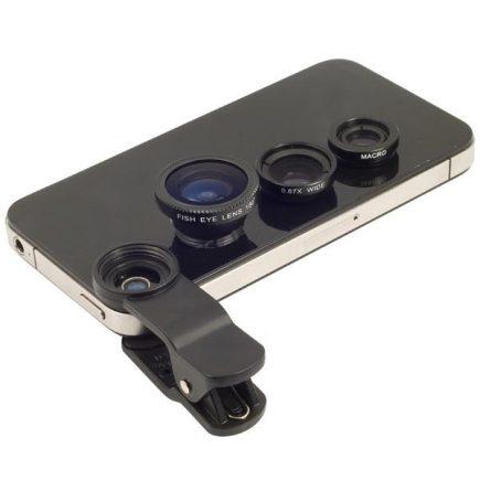 Univerzális 3 az 1-ben objektív telefonhoz