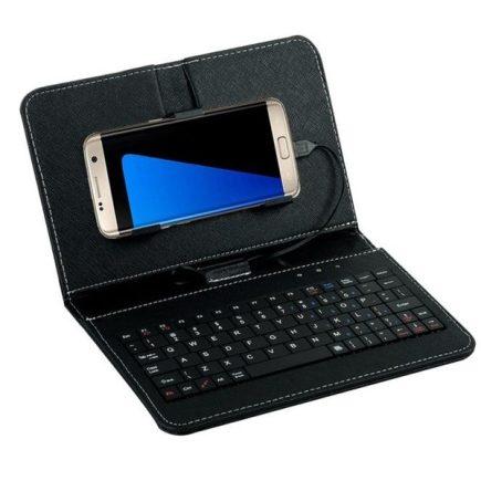 Univerzális telefontok billentyűzettel Fekete