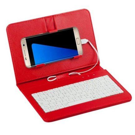 Univerzális telefontok billentyűzettel Vörös