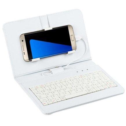 Univerzális telefontok billentyűzettel Fehér