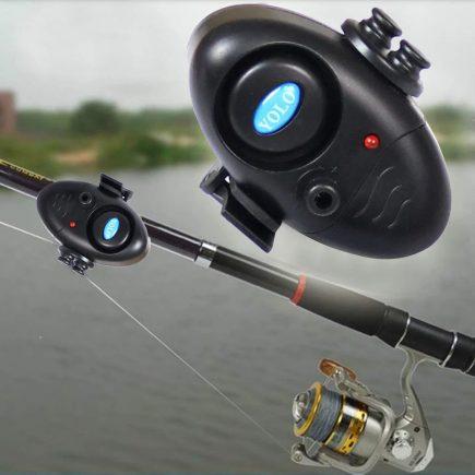 Elektromos kapásjelző hang és fényjelzéssel