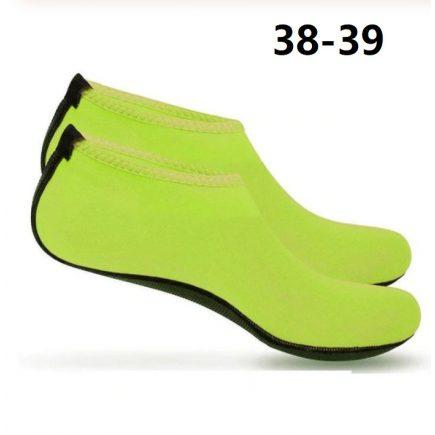 Vizicipő, úszócipő 38-39 Neonzöld