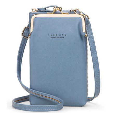 Mobil táska világos kék