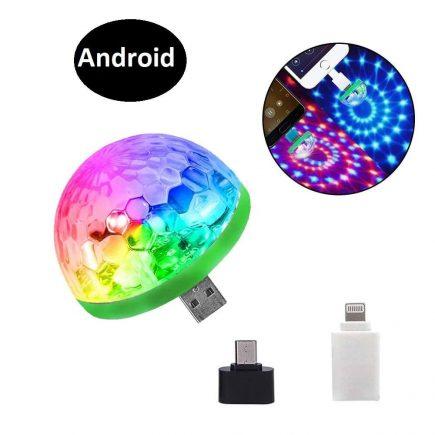 Mini RGB disco gömb Andriod csatlakozóval