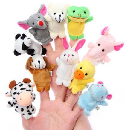 Ujjbáb készlet 10 db (állat figurás) - a gyerekek kedvencei!