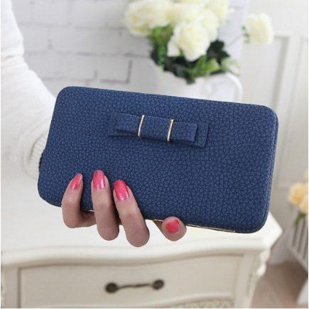 Női pénztárca, borítéktáska Kék