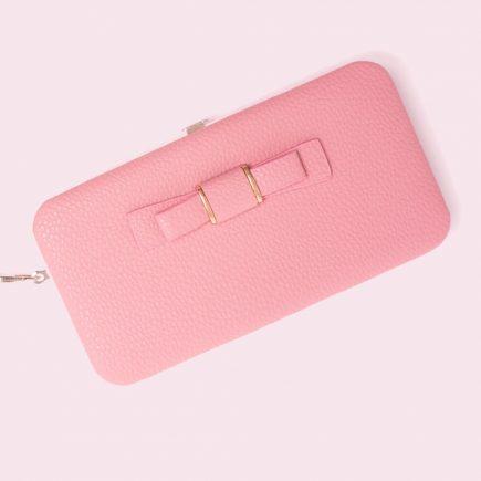 Női pénztárca, borítéktáska Világos rózsaszín