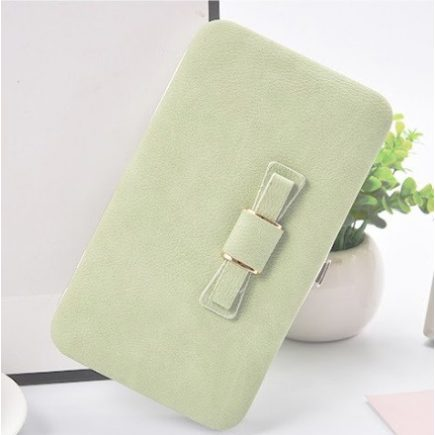 Női pénztárca, borítéktáska Világos zöld