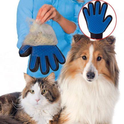 Kutyafésű, kutyakefe, macska szőrtelenítő kesztyű