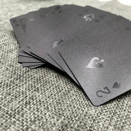 Francia kártya, póker, bridzs, römi (prémium plasztik) Fekete gyémánt, Arany bankó