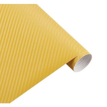 Karbon fólia, autófólia (127 x 15 cm) Sárga