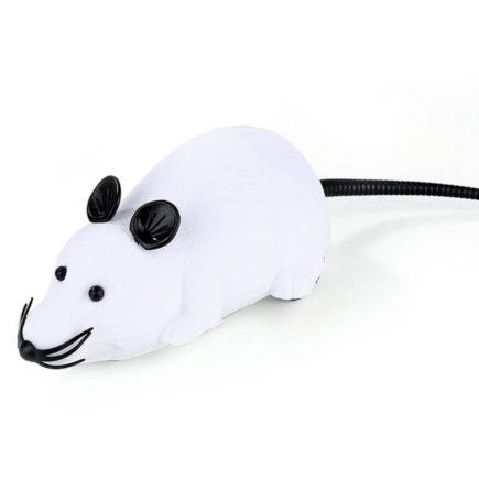 Távirányítós egér – cicajáték Több színben! (Fehér fekete fülekkel)
