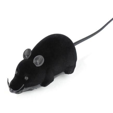 Távirányítós egér – cicajáték Fekete fekete fülekkel